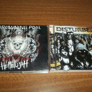 DISTURBED - TEN../ DROWNING POOL HELLELUJAH CD LOT